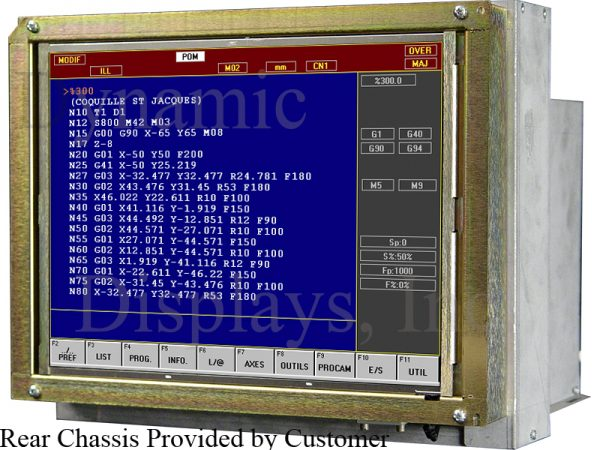 QES1514-011 Milltronics VM17, 14 In Color CRT Monitor Replacement LCD - Installed