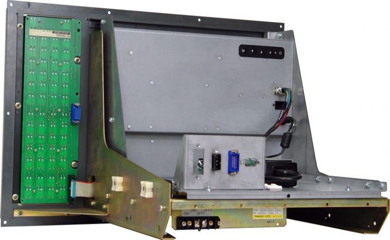 Model QES1514-055 14.1 In LCD replaces Hitachi Industrial Monitors C14C-1472D1F, 14 In Color CRT Monitors used in Fanuc Series 15 and 16-A Systems. - Installed