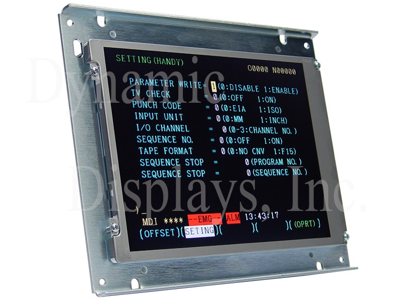 Fanuc A61L-0001-0090, 9 In Color CRT Monitor Replacement LCD