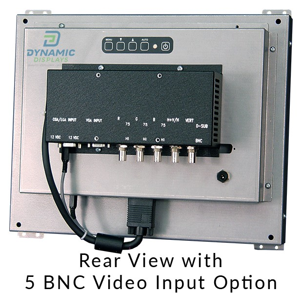 15 in Open Frame LCD Monitor - Rear View